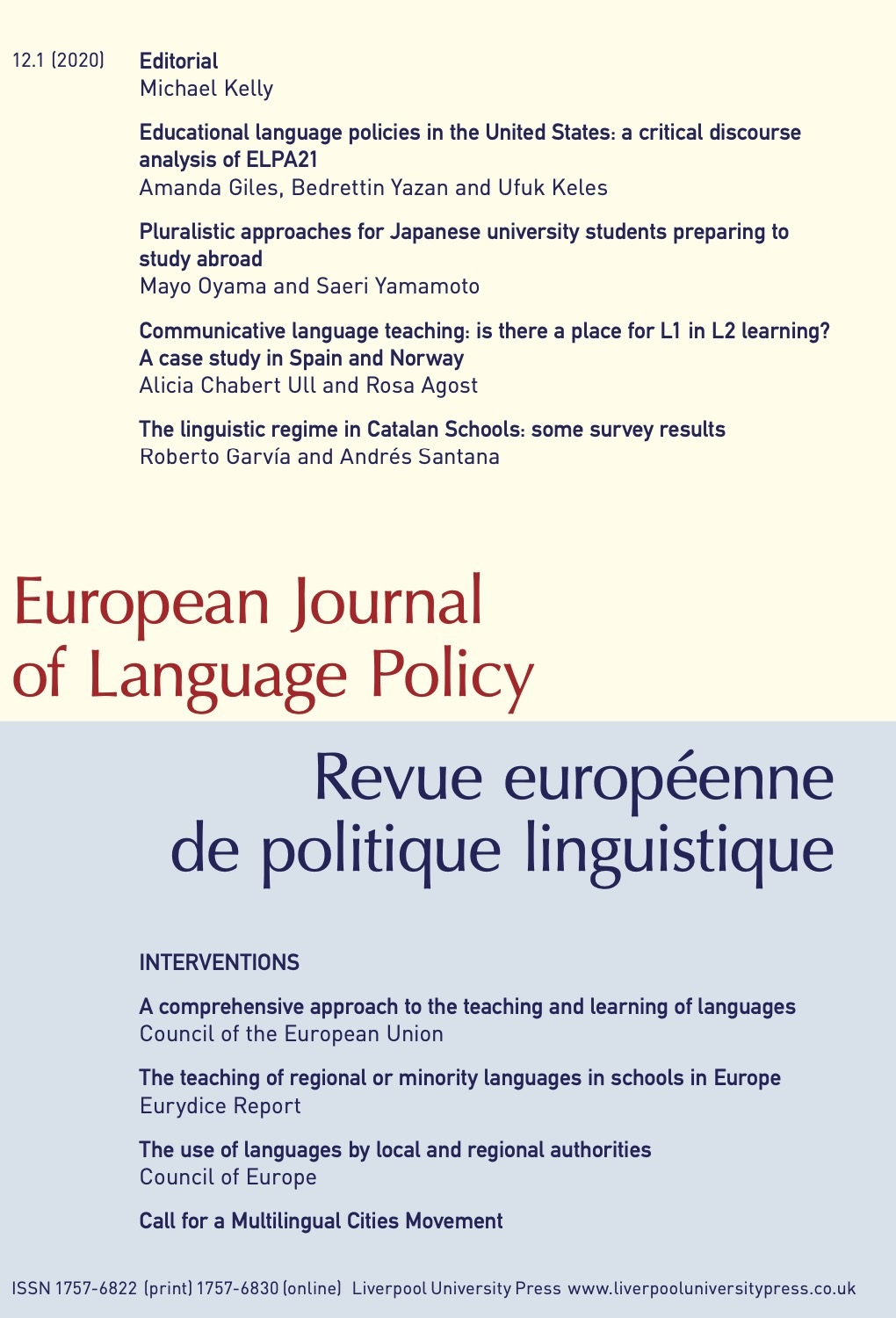 European Journal of Language Policy